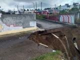Se registró en Río Medio, 12 familias afectadas por socavón
