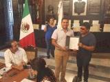 Eduardo Colorado Zapata recibe constancia como agente municipal de Delfino Valenzuela