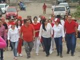 """Participa Callejas Roldá en multitudinaria """"Caminata por la Unidad"""""""
