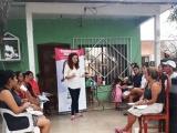 Se reúne Sheila Flores con vecinos de la colonia 16 de febrero