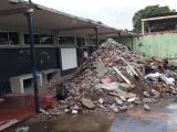 Dejan inconclusa obra en escuela primaria en Boca del Río