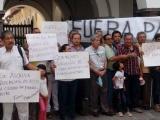 Protestan organizaciones civiles en contra de los parquímetros