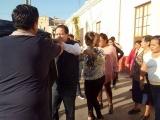 Protestan por colocación de parquímetro afuera de la Josefa Ortiz de Domínguez