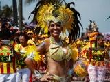 Jarochos y turistas pusieron ambiente este domingo de Carnaval