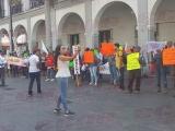 Protestaron Antorchistas, no les entregan obra pública