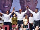 Acompañan Rocío Nahle y Ricardo Ahued a AMLO a multitudinario mitin en Xalapa
