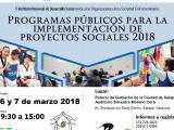 """Invita Sedesol al seminario """"Programas públicos para la implementación de proyectos sociales 2018"""""""