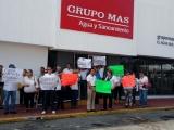 Otra protesta contra Grupo MAS,amenazan vecinos con no pagar
