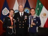 Secretario de Marina recibe a las atletas que ganaron oro en la Copa Mundial  de Marcha 2018 en China