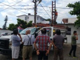 Vecinos protestaron por falta de luz en el Buenavista