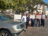 Empleados del IVEC realizan protesta contra parquímetros
