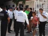 Protestan 80 elementos estatales de Tránsito por despido