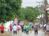 Aguacero provoca afectaciones en casas de Antón Lizardo
