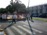 Nuevamente marcharon ex trabajadores del SAS, piden a gobernador electo revise su caso