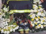 """Dan último adiós al """"Chacha"""" bombero fallecido durante el cumplimiento de su deber"""