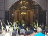 Acuden familias a la celebración del Domingo de Ramos