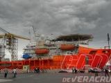 En riesgo instalaciones portuarias por presencia de buques de Oceanografía