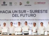 Entrega gobernador Cuitláhuac García Proyecto Ejecutivo del Corredor Interoceánico del Istmo de Tehuantepec