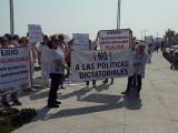 Veracruzanos salen a las calles para protestar contra López Obrador