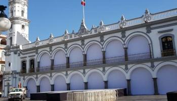 Preparan zócalo de Veracruz para segundo informe de del alcalde  FYM