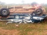 Se revienta llanta de patrulla y provoca muerte de dos policías