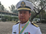 Recibe condecoración de la Sedena el capitan de Navío Bautista Correa