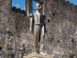 Adiós a estatua de Porfirio Díaz