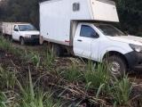Recuperan fuerzas del orden 3 vehículos; 5 detenidos