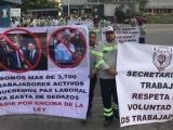 Marchan trabajadores de Tamsa, exigen respeto a sus derechos laborales