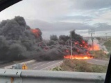 Se incendia pipa en autopista Veracruz-Cardel
