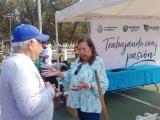 En coordinación, voluntarios y autoridades locales embellecen el parque Los Pinitos