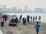Ayuntamiento y Guardia Nacional desalojan playas