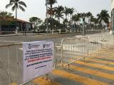 Cierran bulevar Manuel Ávila Camacho en Veracruz para evitar llegue gente a la playa