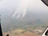 Cuatro incendios forestales activos