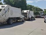 Asegura la PMA siete vehículos compactadores de basura en Tierra Blanca