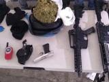 Aprehenden a sujetos por delitos contra la salud y posesión de armas de fuego