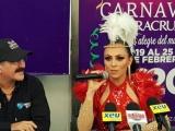Engalana Ivonne Montero tercer papaquí del Carnaval de Veracruz