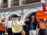 Protestan ciudadanos contra abusos tarifarios y servicios públicos