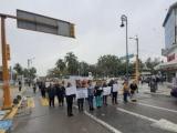 Con protesta, maestros jubilados  exigen restitución de prestaciones