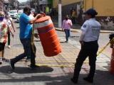 Comerciantes retiran filtros sanitarios en Xalapa