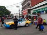 Cierran calles de  accesos al centro de la ciudad de Veracruz