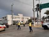 Cierran calles del centro para contener pandemia del Covid-19