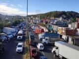 Transportistas protestan por inseguridad