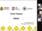 Sesiona Comité Estatal de Emergencias ante la llegada del Huracán Grace a Veracruz