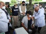 Abuelito de 73 años, residente de Puente Nacional el primero en recibir la vacuna contra COVID en Veracruz