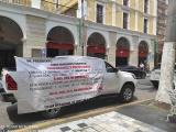 Realizan caravana para protestar contra el pago de pensiones en UMAS